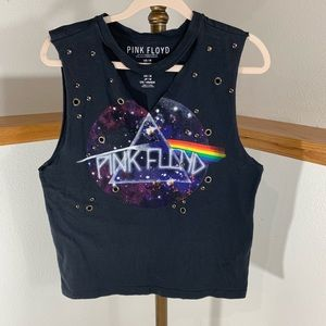 Pink Floyd Detailed Crop Muscle Tank
